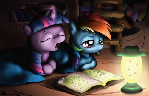 Late night reading by Neko-me